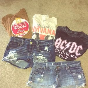 Bundle of brand name T-shirts' and shorts 5 pc.